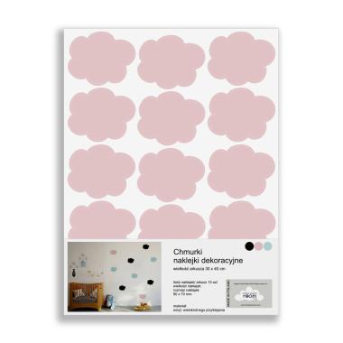 Naklejki ścienne Clouds 15 - różowe chmurki
