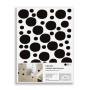 Naklejki ścienne Dots/Kropki - szare,czarne,miętowe