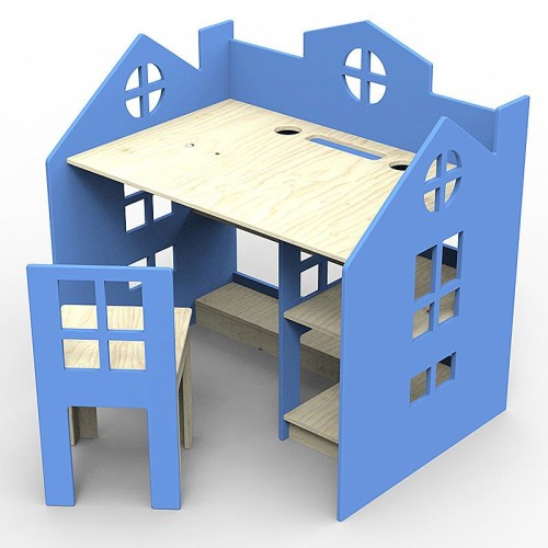 Princessa - biurko w kształcie domku.