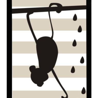 Plakat Małpa w ramce Ciekawe rozwiązanie do udekorowania pokoju dziecięcego.