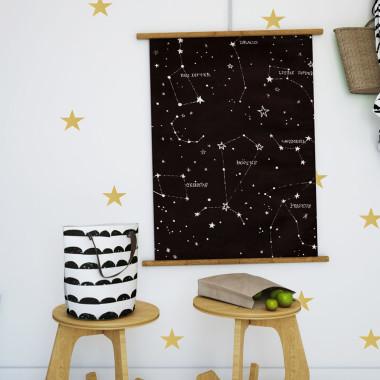 Naklejki gwiazdki złote do pokoju dziecka.