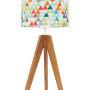 Lampa na stolik kolorowe trójkąciki