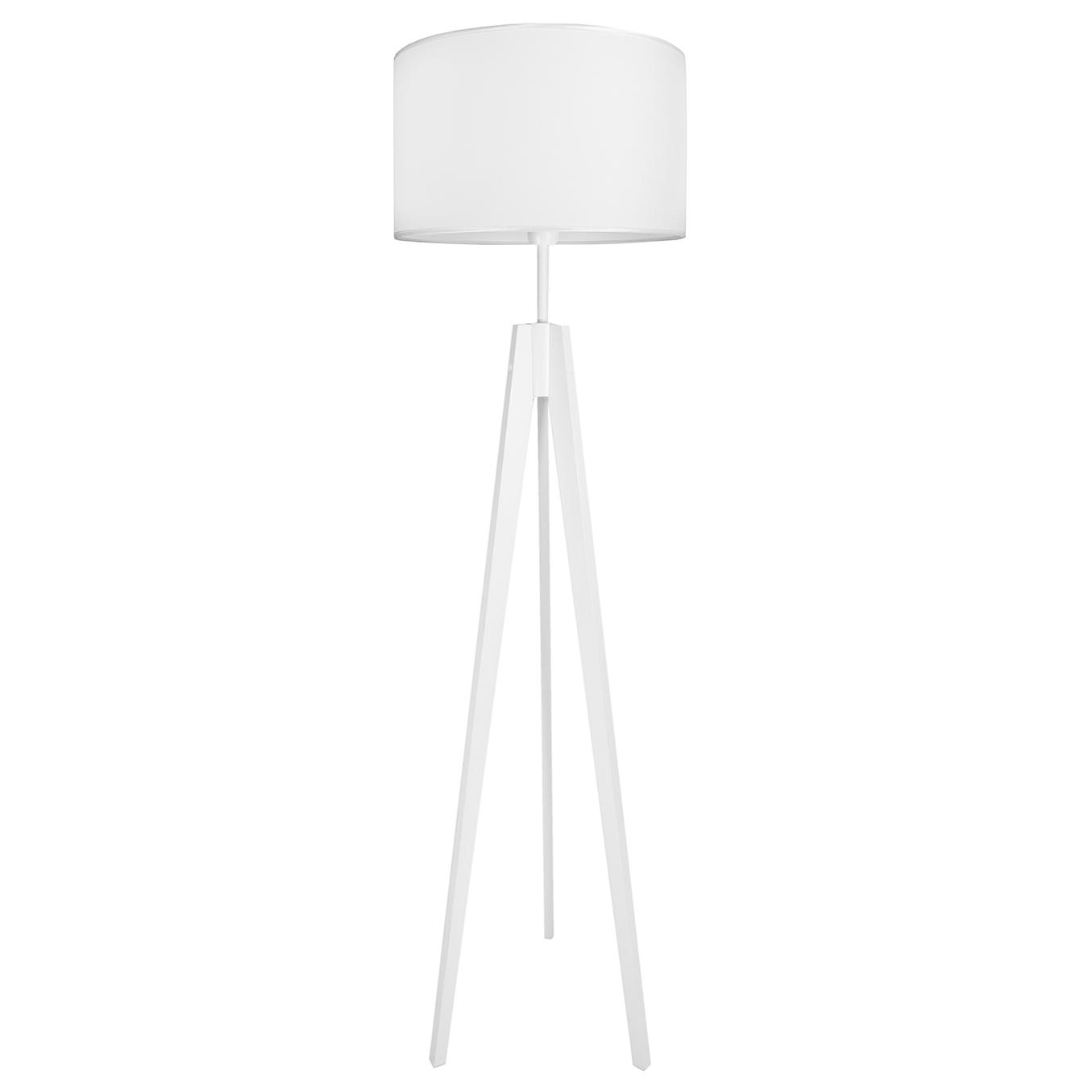 youngDECO lampa podłogowa trójnóg porcelanowa biel
