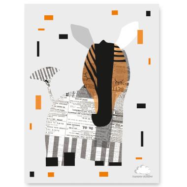 PLAKAT ECO ZEBRA z kolekcji Safari