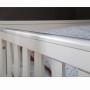 Pinio Marsylia Blanco MDF - łóżeczko 140x70 cm białe z tabliczką