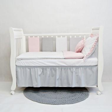 Falbanka pod materacyk łóżeczka