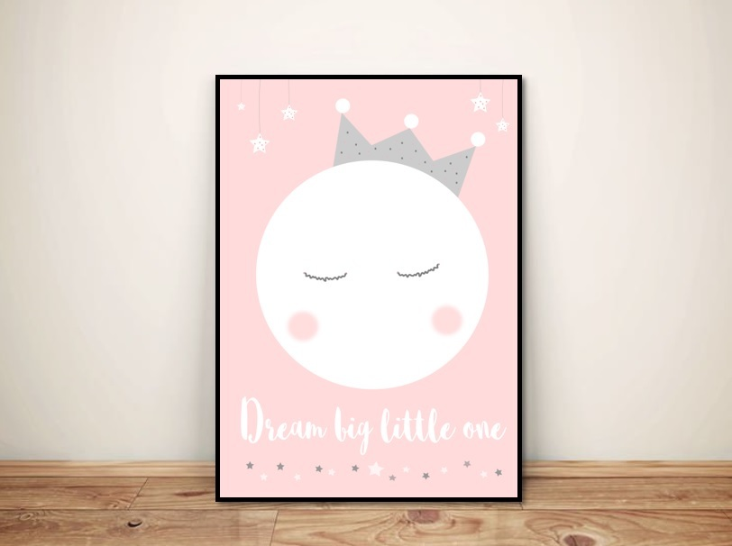 "Plakat dla dzieci ""Dream big little one"""