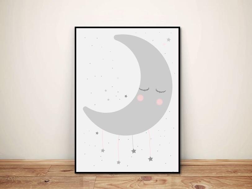"""Plakat """"Księżycowy sen """""""