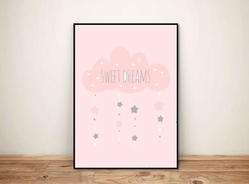 Plakat dla dzieci 'Sweet dreams' chmurka