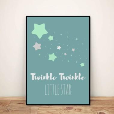 "Plakat dla dzieci ""Twinkle little star"""