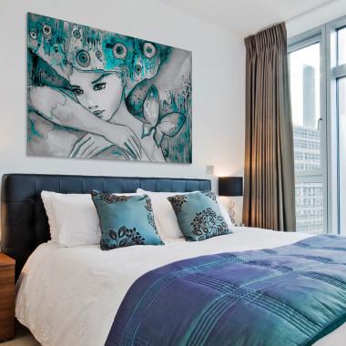 Morski urok - nowoczesny obraz do sypialni
