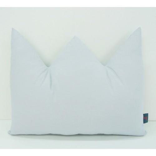 Poduszka w kształcie korony, szara.