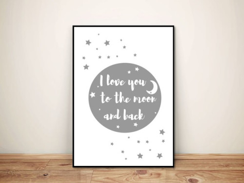 Plakat TO THE MOON AND BACK
