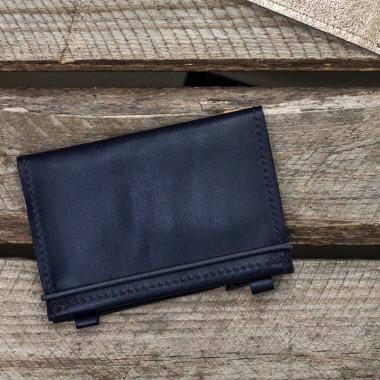 MIKRO PLUS / Navy - portfel ze skóry