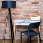 Ragaba biurko LILLO średnie czarna lampa Wanda czarne krzesło UFO