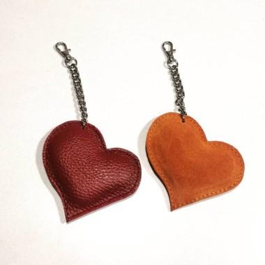 Serce – brelok skórzany do torebki