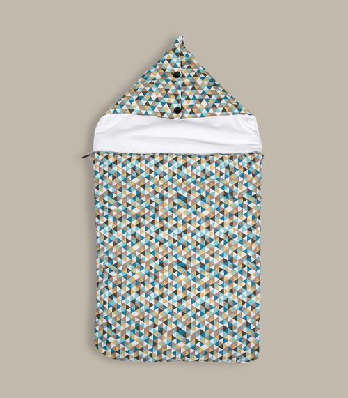 Cyrk - śpiworek z kapturem do łóżeczka/ gondoli wózka 60 cm