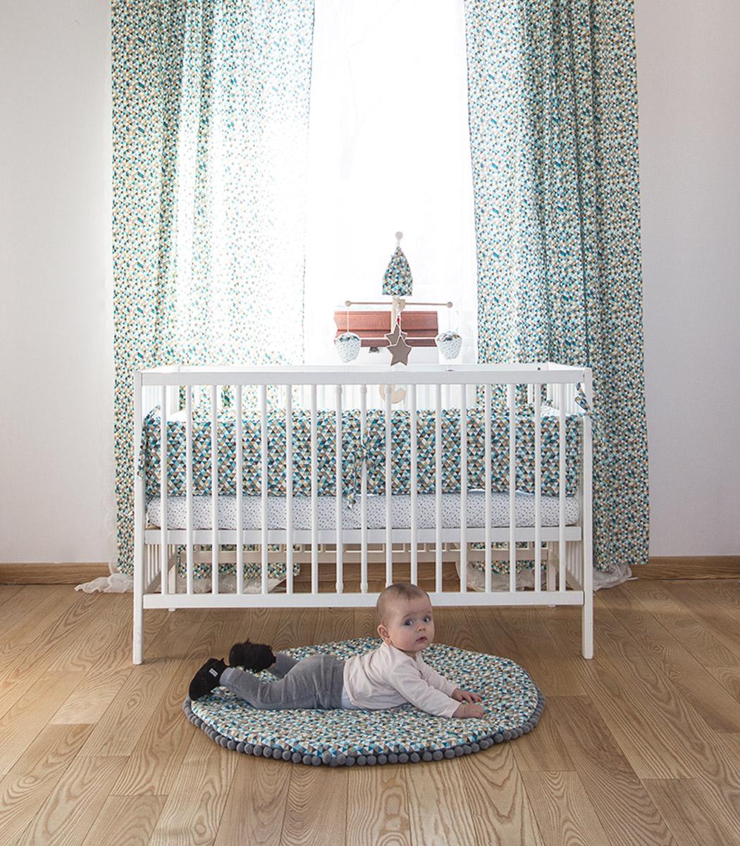 Cyrk - ochraniacz pikowany na całe łóżeczko