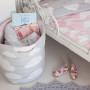Kosz na zabawki Chmurki Pink & Grey (2)