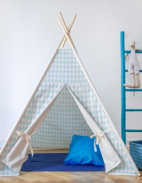 Namiot dla dzieci tipi - Pastelowe romby