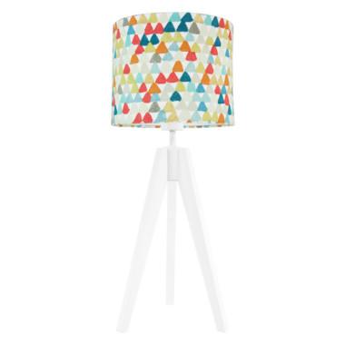 Lampa nocna na stolik kolorowe trójkąciki