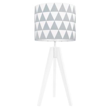 Lampka nocna na stolik Trójkąty szare
