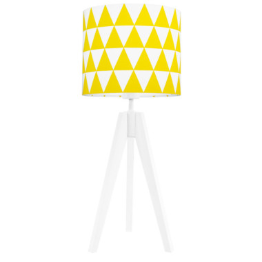 Lampka nocna na stolik Trójkąty żółte