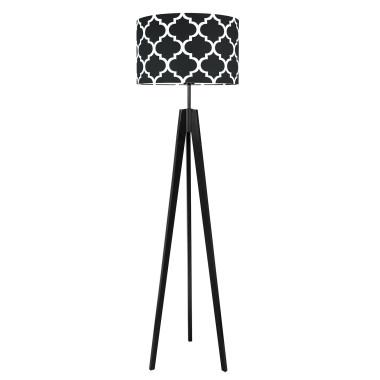 youngDECO lampa podłogowa trójnóg czarny koniczyna marokańska czarna
