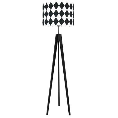 youngDECO lampa podłogowa trójnóg czarny romby czarne