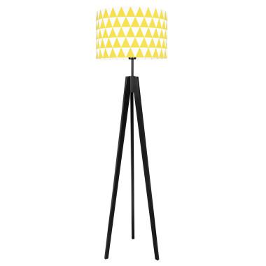 youngDECO lampa podłogowa trójnóg czarny trójkąty żółte