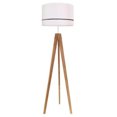 Lampa podłogowa do salonu kolor jasny różowy