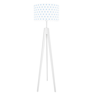 youngDECO lampa podłogowa trójnóg gwiazdki błękitne