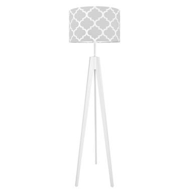 youngDECO lampa podłogowa trójnóg koniczyna marokańska szara