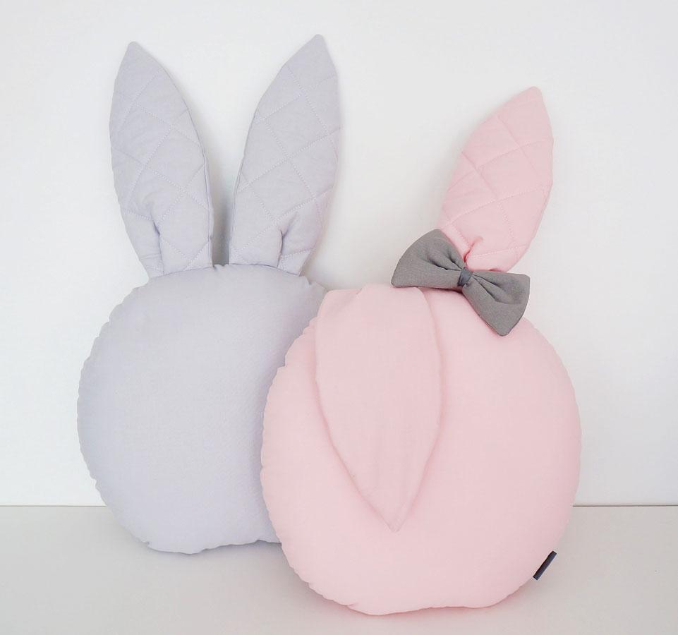 Poduszeczki dla dzieci wkształcie króliczków