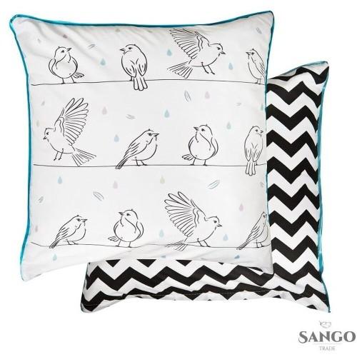 Piękne poszewki z doskonałej bawełny, dekorowane rysunkiem uroczych ptaszków