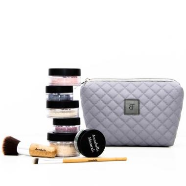 Kosmetyczka damska pikowana z serii Simple