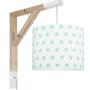 Lampa typu kinkiet nad biurko, idealne oświetlenie do pracy lub czytania lub pokoju dziecięcego. Styl skandynawski.