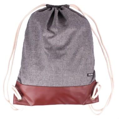 Plecak worek Nuff | Szary melanż