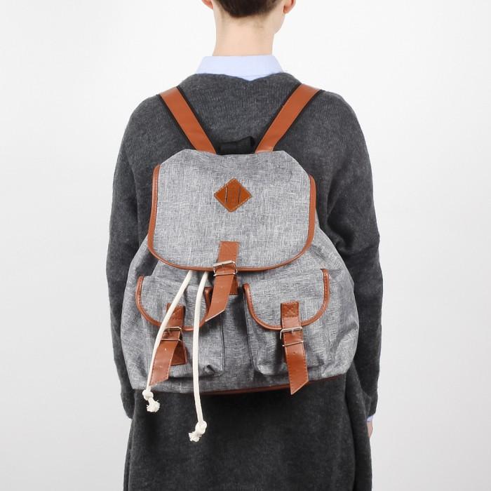 Plecak Nuff - gray & brown