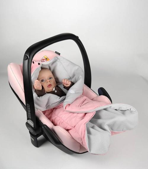 Flaming - pikowany śpiworek otulacz do fotelika samochodowego