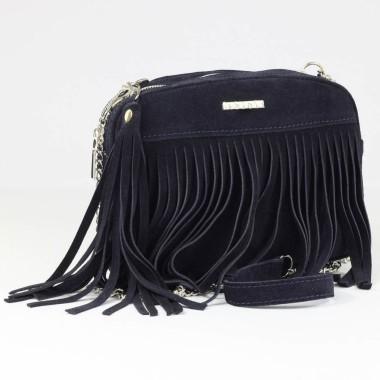 Niewielka, modna i elegancka skórzana torebka