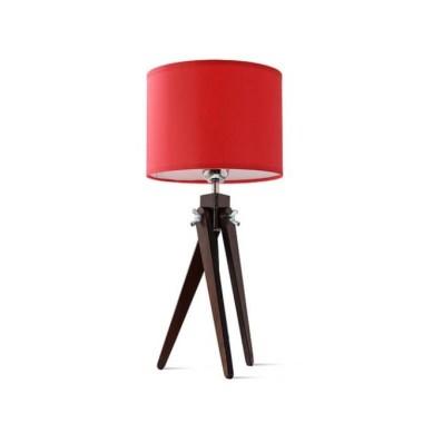 Lampa stołowa nocna sztalugowa trójnóg wenge LW16-02-20