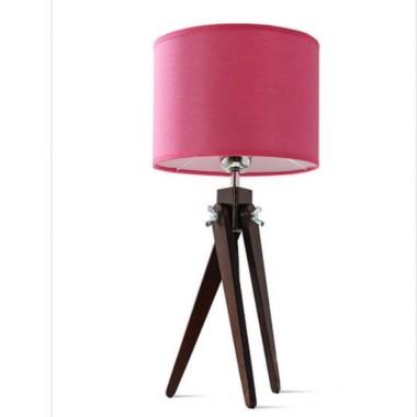Lampa stołowa nocna sztalugowa trójnóg wenge LW16-02-27