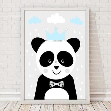 Panda w koronie turkus