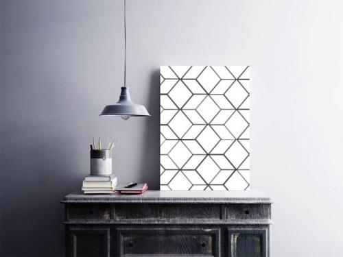 Plakat skandynawski Geometria czarno-biały