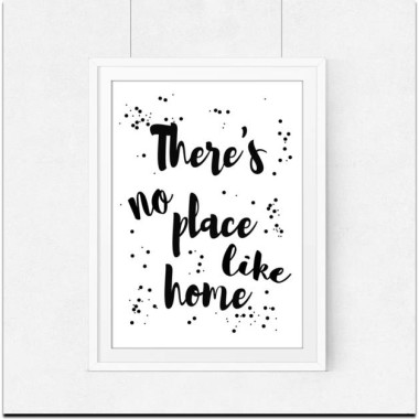 Plakat skandynawski There's no place like home
