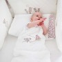 Biały śpiworek dla niemowląt z doskonałej jakości bawełny