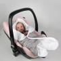 Słoniki - pikowany śpiworek-otulacz do fotelika samochodowego