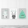 tryptyk alfabet królik cyferki