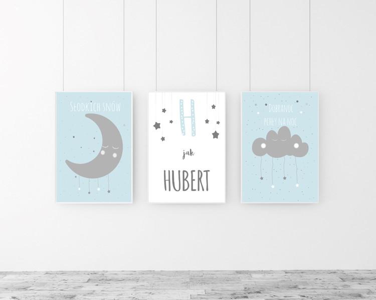 Zestaw 3 plakatów do pokoju dziecka H